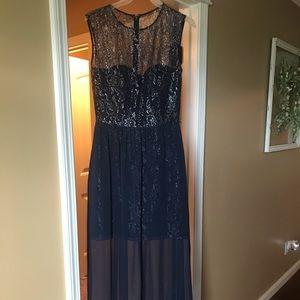 Lela Rose Navy Bridesmaid Dress size 10